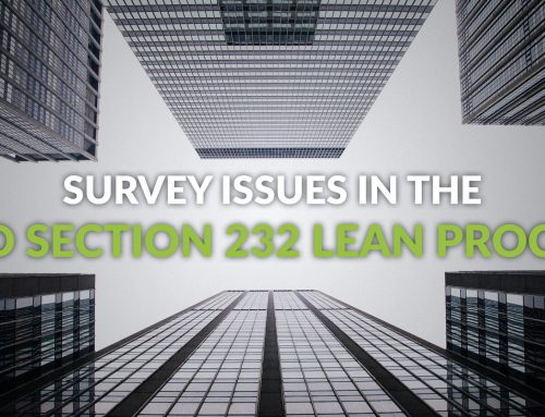 Survey Issues in the HUD Section 232 LEAN Process